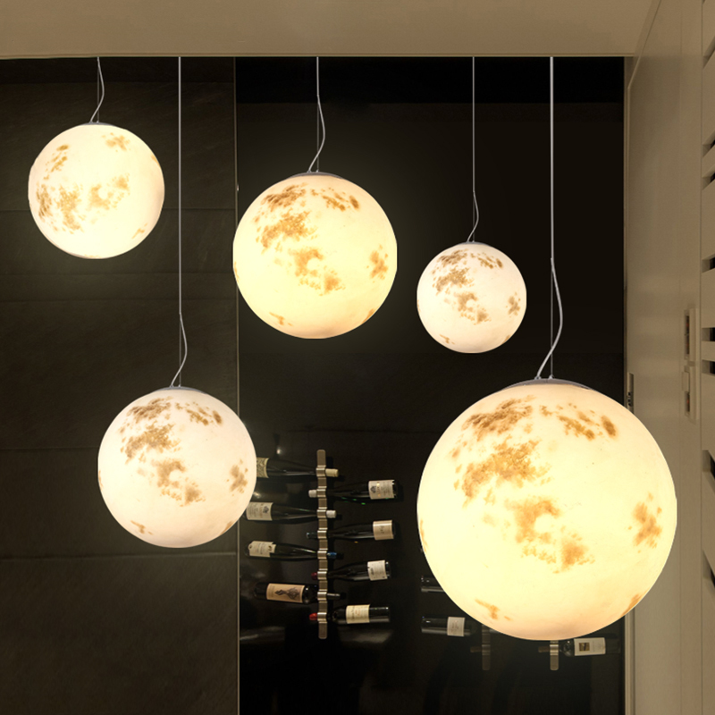 Modern Moon Pendant Lights For Living Room Bedroom Dining Room Bar Cafe White Acrylic Home Decorate E27 Pendant Lamp Fixtures 3 lights modern fashion led pendant light acrylic single hanglamp fixtures for kids room cafe living home lightings