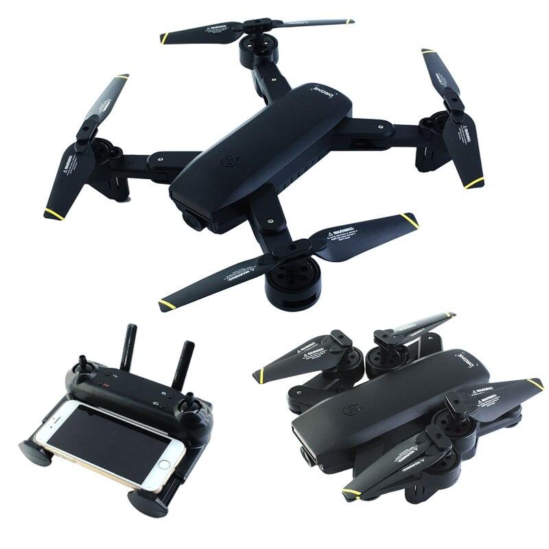 Drone RC WIFI FPV avec double caméra 2MP Mode de maintien de l'altitude de débit optique Drone hélicoptère pliable RC Dron quadrirotor VS E58