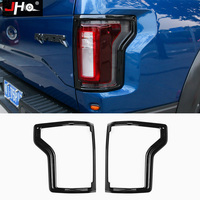 JHO 2pcs ABS Tail Light Frame Cover Trim For Ford F150 Raptor 2016 2019 2018 2017 Exterio Pickup Truck Styling Accessories Black
