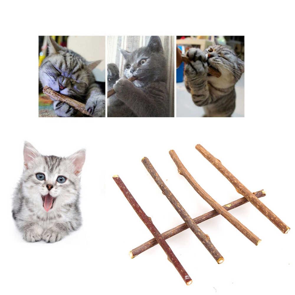 순수 자연 Catnip 애완 동물 고양이 장난감 Molar 치약 지점 청소 치아 Silvervine 고양이 간식 스틱 애완 동물 용품 5/10/20pcs