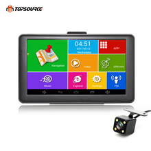 TOPSOURCE Car GPS Navigation Android WIFI Bluetooth FM automobile navigator sat nav navitel/Europe/USA/Russia/UK Free map
