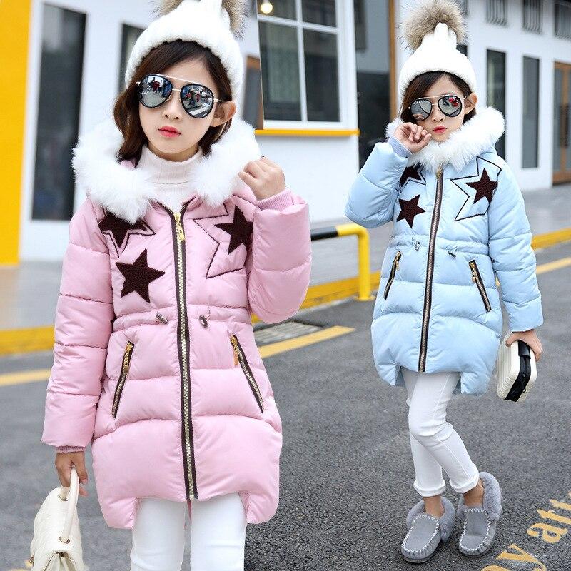 Girls Winter Jacket New Arrival Acetate Casual Big Boy Girl Coat Long In 2016 New Winter