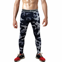 Mens Compression Pants 2016 New Crossfit Tights Men Bodybuilding Pants Trousers Camouflage Joggers 3