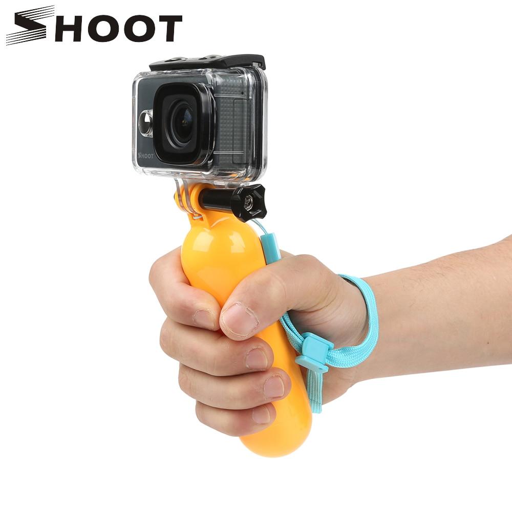 SHOOT Float Bobber Hand Grip For GoPro Hero 8 7 6 5 Black Dji Xiaomi Yi 4K Sjcam Sj8 Pro H9r Action Camera Handler Accessories