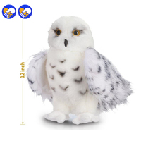 Um brinquedo de Um sonho Crianças Filhos Adultos Brinquedos Encantadores de Qualidade Premium Branca de neve de Pelúcia Brinquedo Coruja Hedwig 12 polegada de altura Adorável Pelúcia Ani