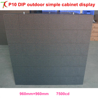 Cost Effective P10 DIP Simple Cabinet Display For Outdoor Advertisement