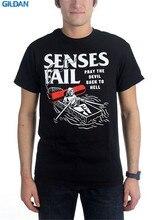 Fashion Sale 100% Cotton  Senses Fail Devil Boat Crew Neck Short Sleeve T Shirts For Men