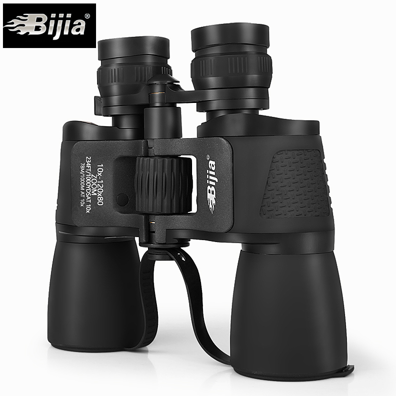 BIJIA 10-120X80 Telescope binoculars long range zoom hunting professional HD nitrogen waterproof authentic bijia binoculars nitrogen waterproof hd non infrared night vision binocular telescope hunting support drop shipping
