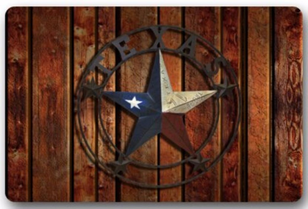 Texas State Flag Western Star Door Mats Cover Non Slip Hine Washable Outdoor Indoor Bathroom Kitchen Decor Rug