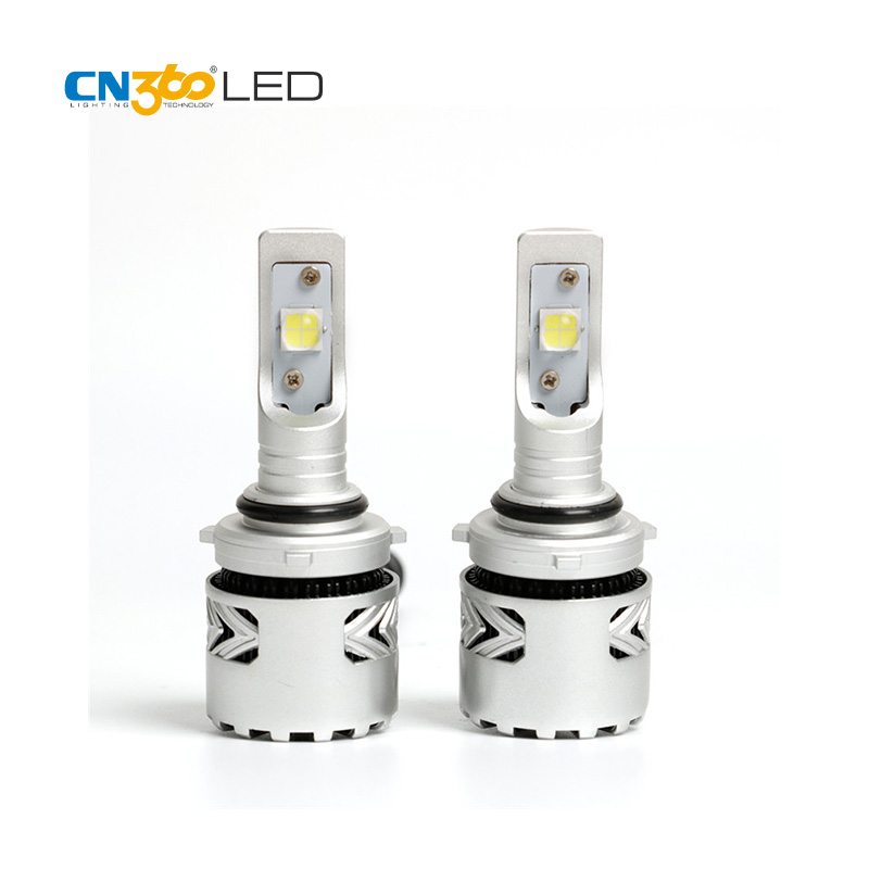CN360 2PCS Latest LED 9006 HB4 Led Car LED Headlight Bulbs With CREE Chip 6000LM Super Bright  6000K 12V High Speed Cooling Fan hot super bright led headlight kits 9006 with 2 cree led 9v 36v dc 80w 7200lm high power x7 9006 led headlight all in one bulb