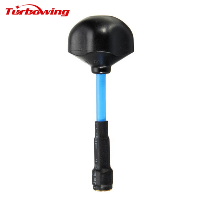 Turbowing 5.8G 8dBi RHCP Mushroom FPV Antenna RX / TX RP-SMA / SMA Male Black for RC Racing Racer Multirotor Drone Quadcopter skyzone 5 8ghz rhcp 4 leaf fpv antenna tx rx sma rp sma