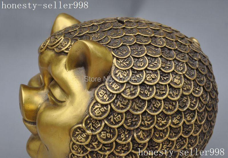 Julegave kinesisk fengshui bronze messing dyrekreds dyre dyr rigdom - Indretning af hjemmet - Foto 4