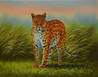 Hot Sale Handpainted High Quality Animal Leopard Oil Painting On Canvas Wall Art For Home Decoration