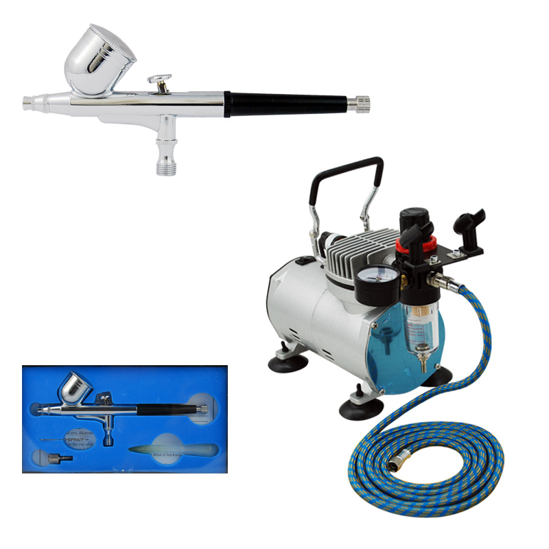 High Quality ABK-130 Air Compressor Kit Commercial Arts Body Painting high quality abk 136 airbrush compressor kit commercial arts body painting temporary tattoos make up