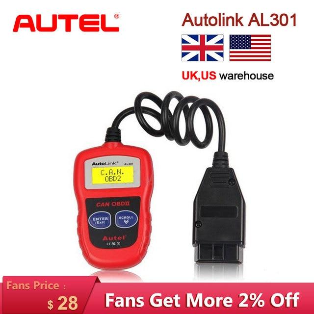Autel AutoLink AL301 OBDII & CAN Code Reader Auto Link AL 301 Auto Diagnostic scanner Tool obd 2 Scanner for car Update Free