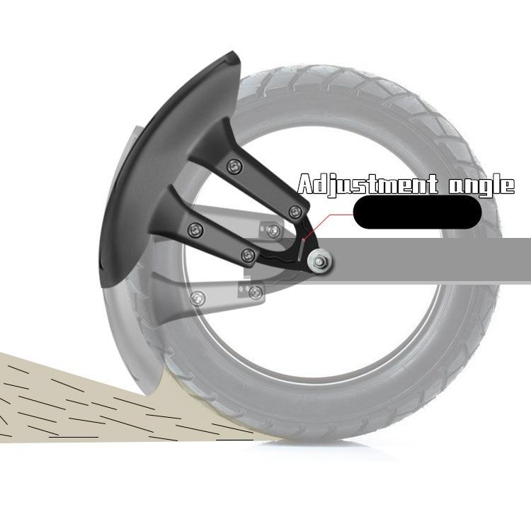Image 3 - Motorcycle Rear Fenders Flare Mud Flap Mudguard Guard Blavk For Honda cbf 190r cbr 190x cbf150