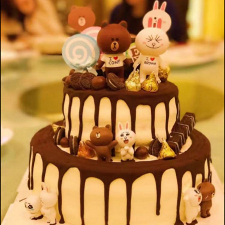 Hot Sale Kawaii 8pcsset Line Town Dolls Brown Bears Cony Rabbit
