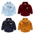 New Arrival Boys Shirts Fashion Children Long Sleeve Single-breasted Blouse Clothing Baby Boy Lapel Collar Cotton Corduroy Shirt