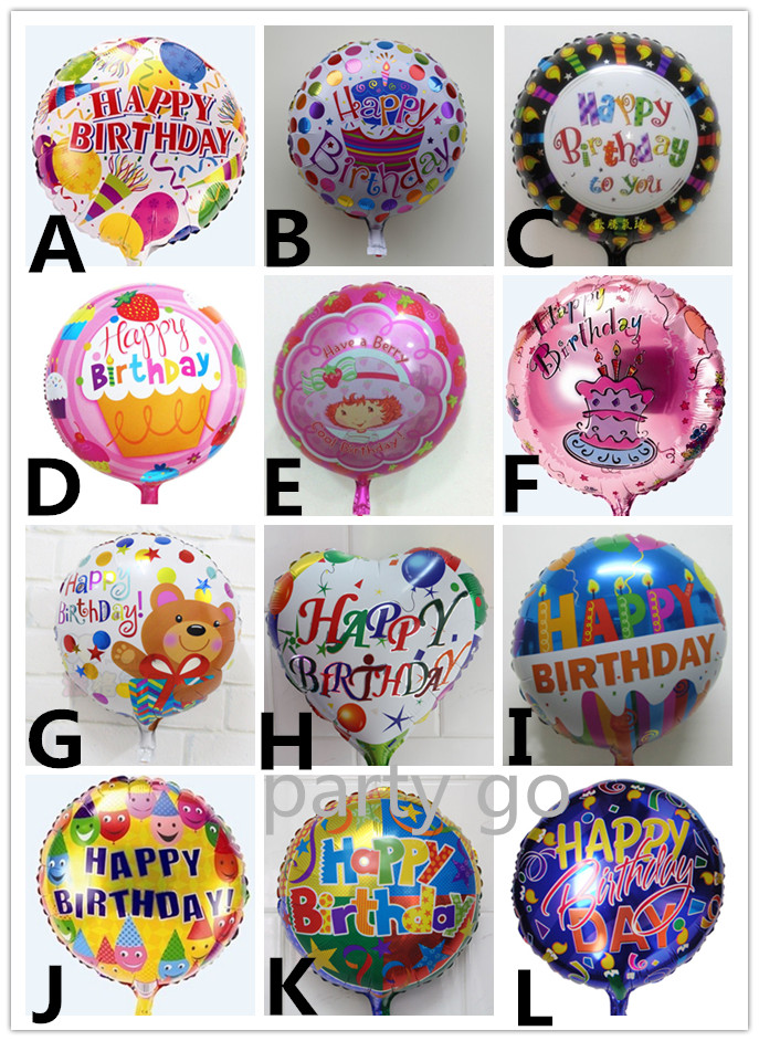 Globos Mixed batch happy birthday balloon aluminium foil balloons helium ballon