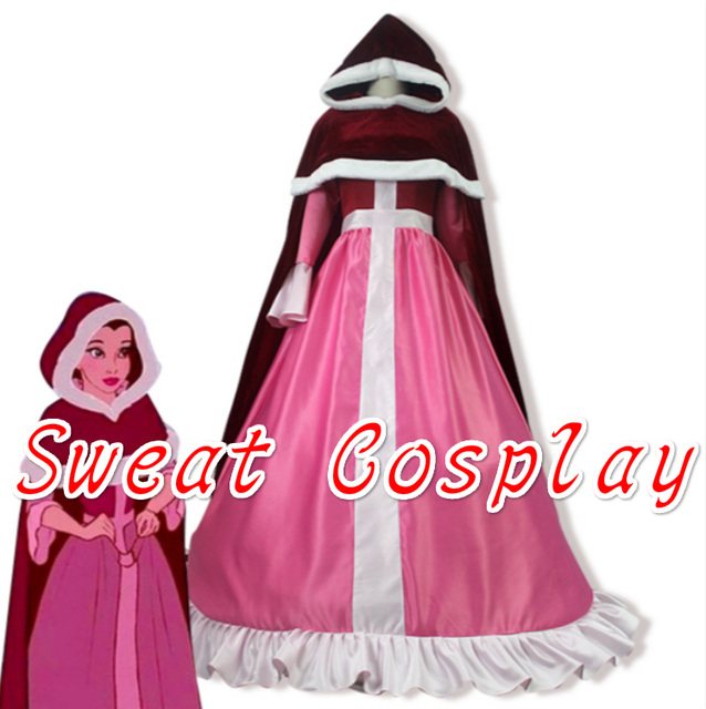 Beauty And The Beast Bell Red Cape Pink Dress Cosplay Costume  sc 1 st  AliExpress.com & Beauty And The Beast Bell Red Cape Pink Dress Cosplay Costume-in ...