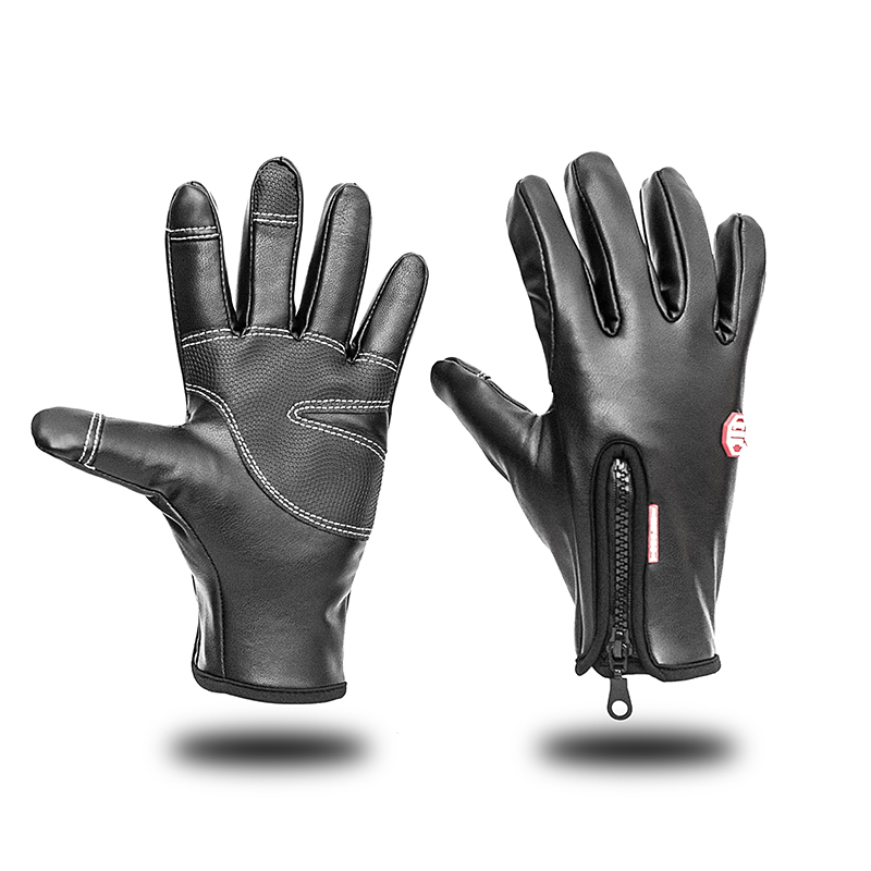 Outdoor WarmWindproof Bike Cycling Glove Winter Thermal Full Finger Bicycle,Ski,Hiking Gloves can Touch Screen for Man Woman
