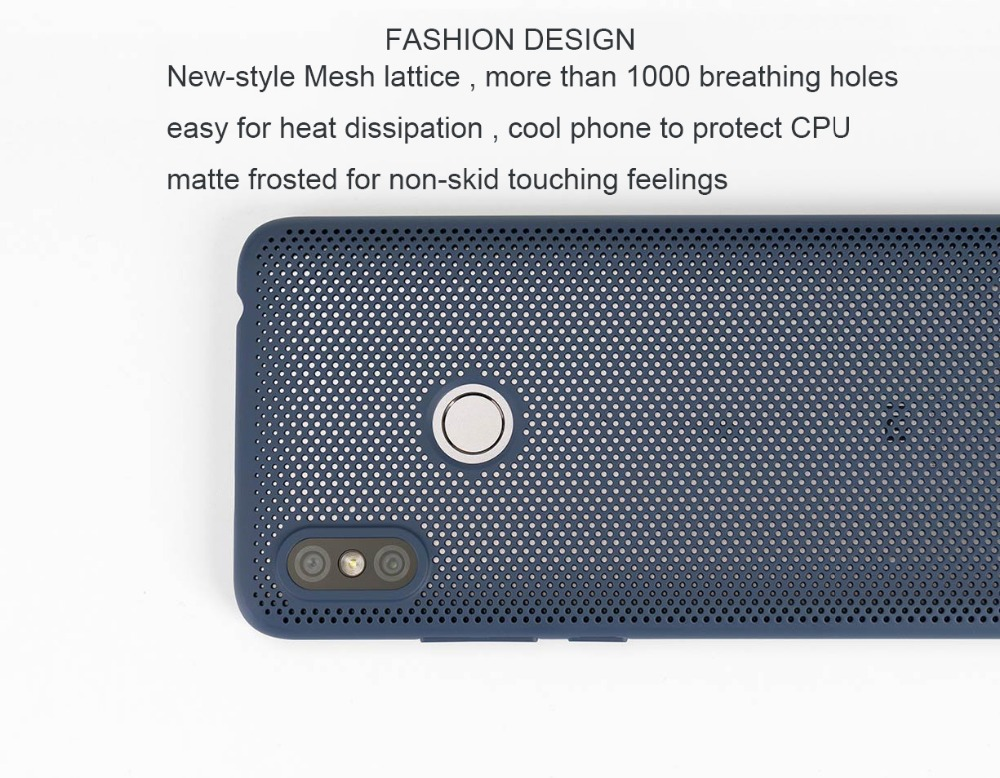 """Image 5 - Original Xiaomi Redmi S2 Case Cover Heat dissipation back Case 5.99"""" Cool Phone 1000 holes breathing Xiaom Redmi S2 S 2 PC shell-in Fitted Cases from Cellphones & Telecommunications"""