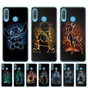 Cute Snow White Alice Little Mermaid Stitch Bambi Case For Huawei P30 P20 Lite P10 P9 P8 Lite 2017 Soft TPU Phone Cover Capa(China)