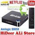 S905X EM95X Android 6.0 TV Box Amlogic Quad-Core A53 1G 8G kodi 16.1 completo cargado wifi 4 k smart h.265 streaming reproductores multimedia