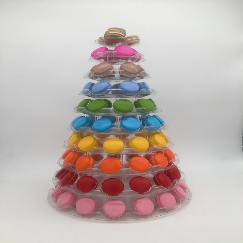 10 tiers Macaron Tower Cake Display Stand Foldable Macaron Display Stand Wedding Decorating Birthday Party Decoration
