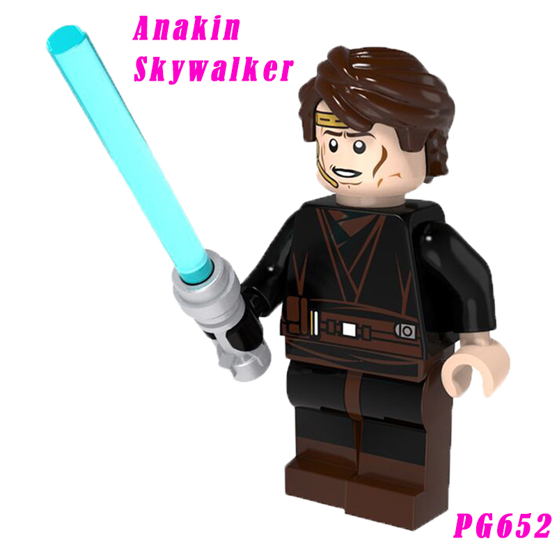 Anakin Mini Bricks The Last Jedi Diy Dolls Single Sale With Lightsaber Assembly Building Blocks Pg652 Toy For Children