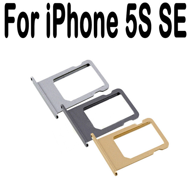 pretty nice f8c55 697f3 US $0.5 |2016 Nano SIM Card Holder Tray Slot for iPhone 5S SE 5C  Replacement Adapter SIM Card Tray Holder Socket Apple Accessories Tools-in  SIM Card ...