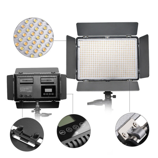 TL-600S 600 LED 5600K Studio Video Lighting Lamp +Battery For Canon 650D 750D 760D 77D 800D 6DII 7DII 5DII 5D4 Camera as YN-600 2