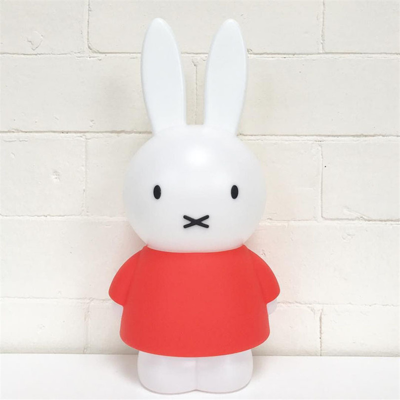 Trecaan 45CM Rabbit Led Night light Dimmable Baby bedroom feeding lamp Cartoon Gift Lamp For Valentine's Day Birthday Christmas ice hockey creative christmas birthday dream master cartoon children boy gift led wall lamp 3d stick bedroom night light party
