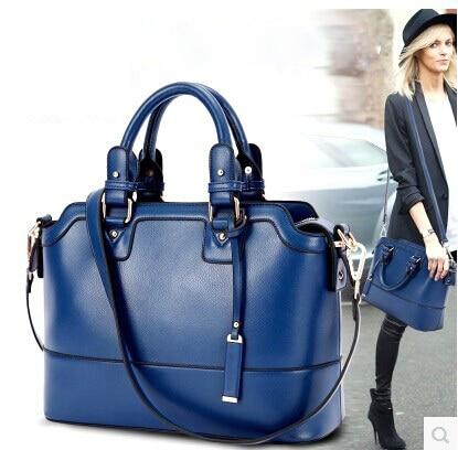Cowhide Genuine Leather Women S Bags 2017 Trend Handbag Cross Body Vintage Work Bag In Top Handle From Luggage On Aliexpress