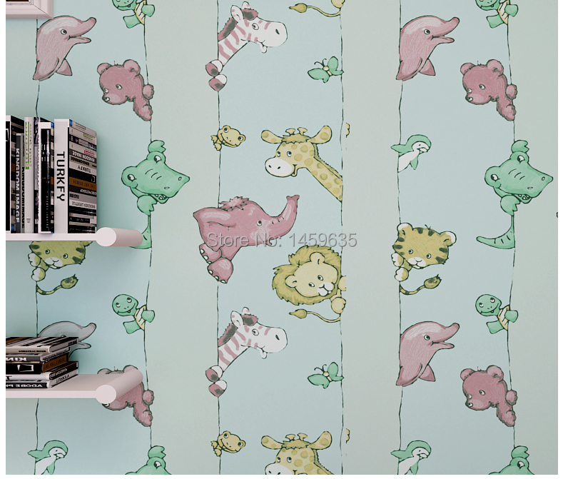 ФОТО 2016 Time-limited Photo Wallpaper Papier Peint Wall Paper Non-woven Room For Boys And Girls Children Animals Wallpaper Bedroom