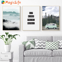 Scandinavian Style Travel Landscape Decor Wall Art Canvas Painting Nordic Poster Pictures Prints Unframed