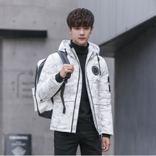 2019 new  Men Winter Feather down Jacket men's Hooded camouflage parka jackets white mens thick jacket down jacket male donsjas цены онлайн
