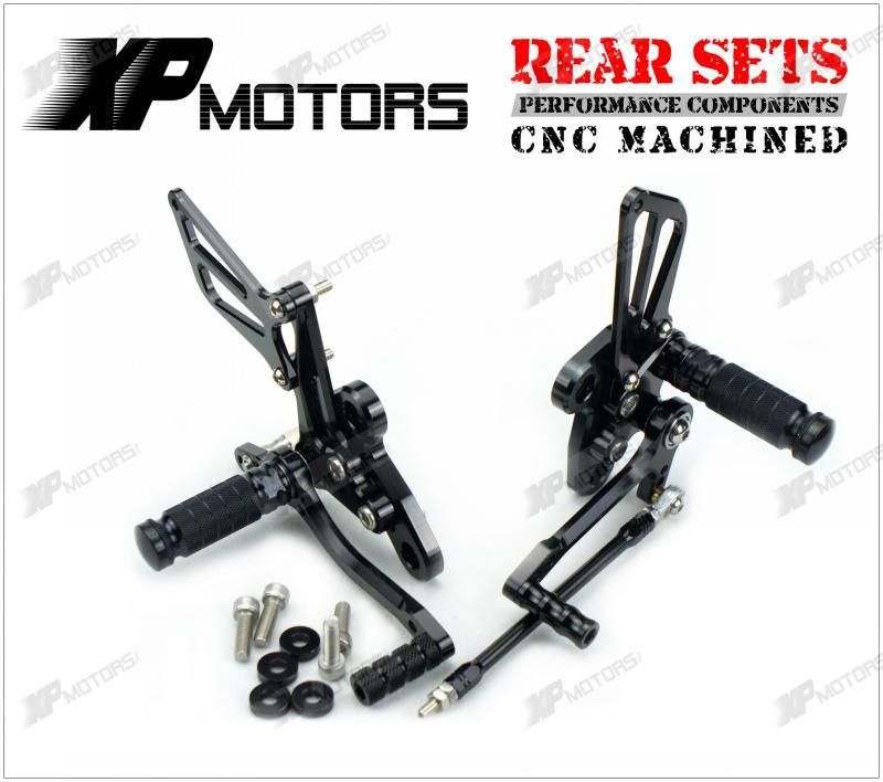 New Black Racing CNC Adjustable Foot Pegs Rear Sets For Suzuki GSX1300R Hayabusa 1998 1999 2000 2001 -2009 2010 2011 2012-2015 morais r the hundred foot journey
