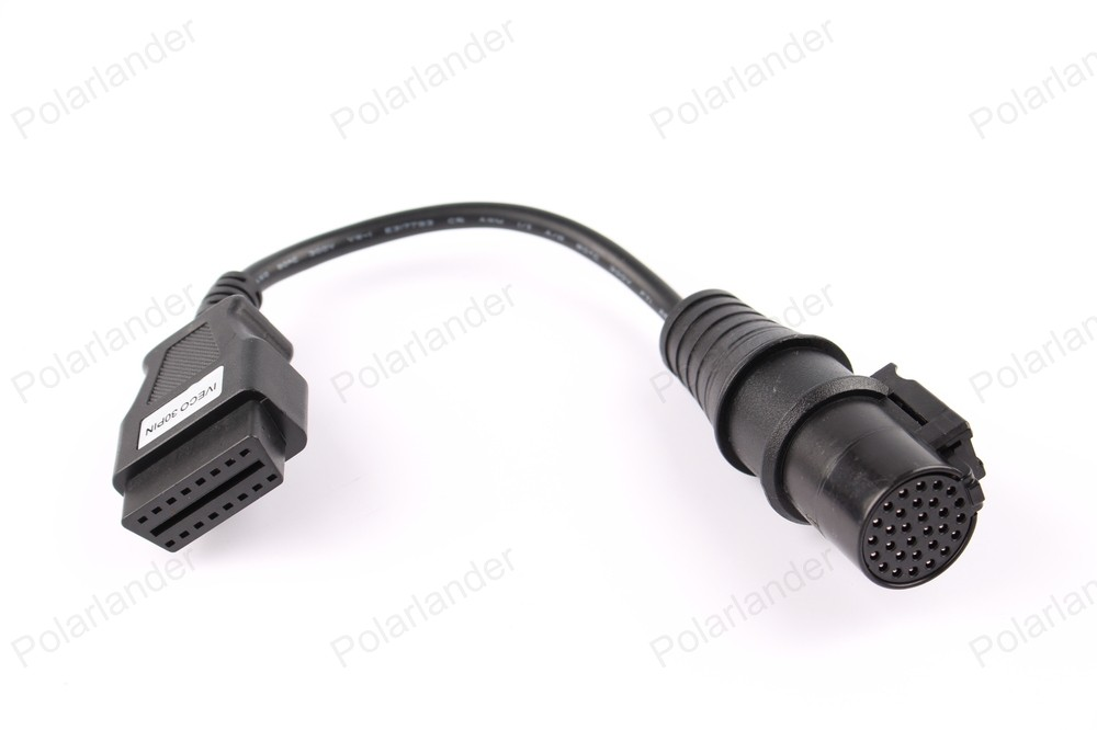 hot sell OBD2 Cable Iveco Adapter For IVECO 30 Pin Cable Diagnostic Cable fast shipping