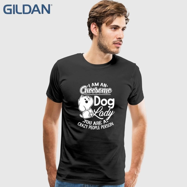 b11d179f228 Best Custom T Shirtsare You An Awesome Dog Print Mens Black T Shirt Round  Neck China