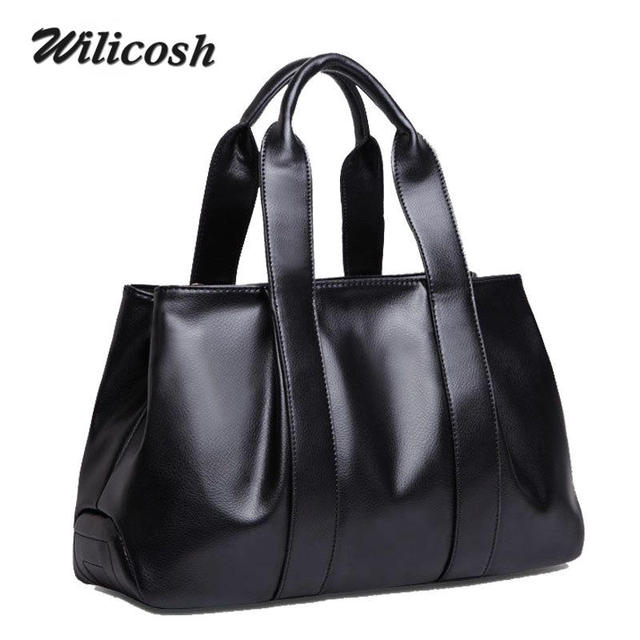 Wilicosh 2017 cow split leather handbag fashion Shoulder crossbody bags for women tote solid color hand cross body bag WL374