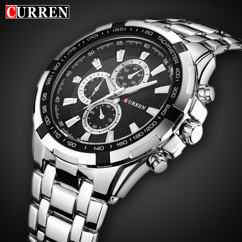 Men Military Sport Quartz Watch Curren Brand Luxury Full Steel Waterproof Mens Watches Male Clock Wristwatches Relogio Masculino