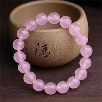 9 9 Package Postal Special Natural Powder Chalcedony Single Circle Circle Pink Colour Crystal Hand String