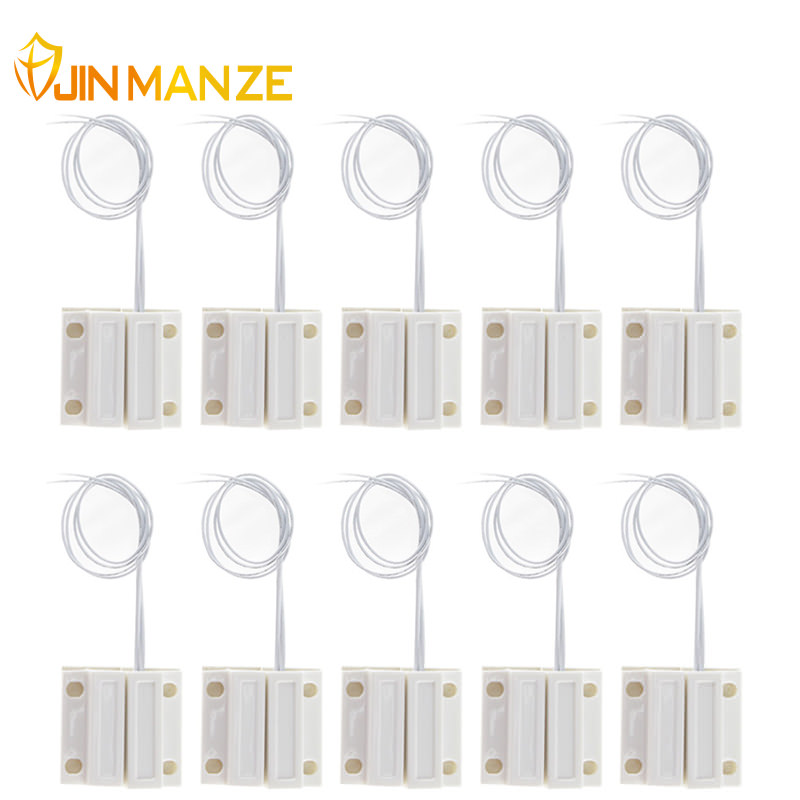 10pcs/lot Normally Closed Wired Door Window Sensor 330mm Wired Lengthen Randomly Magnetic Switch Home Alarm System N.C Type thyssen parts leveling sensor yg 39g1k door zone switch leveling photoelectric sensors