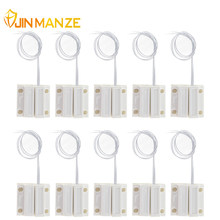 10pcs/lot Normally Closed Wired Door Window Sensor 330mm Wired Lengthen Randomly Magnetic Switch Home Alarm System N.C Type