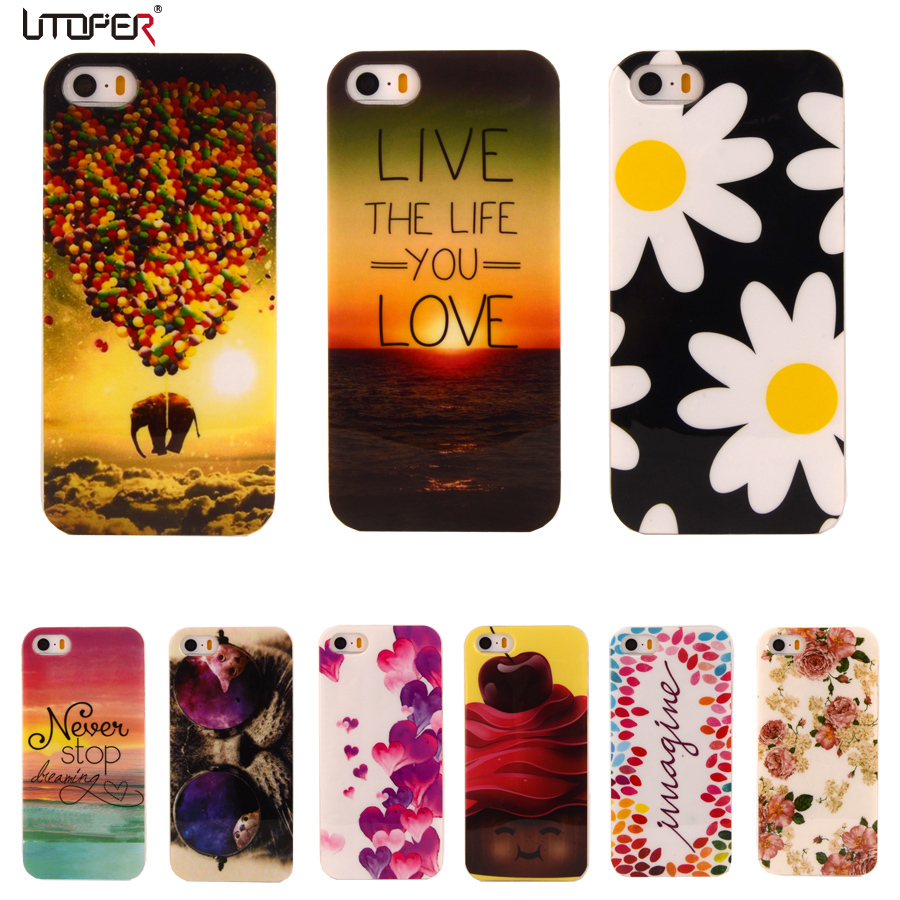 cute coque for iphone 5s case soft plastic for apple. Black Bedroom Furniture Sets. Home Design Ideas