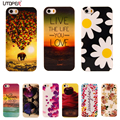 For iphone 5S Case Flower Cartoon Pattern Soft TPU For Apple iphone 5 Case for iPhone5 5S iphone SE Coque Phone Protective Cover