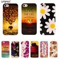 Para iphone 5s caso patrón de dibujos animados flor suave tpu para apple caso para iphone5 iphone se 5S coque iphone 5 teléfono protectora cubierta