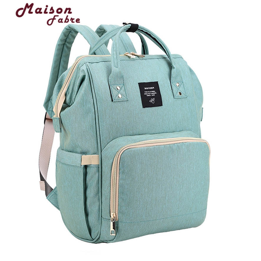 Fashion Mummy Maternity Nappy Bag Brand Large Capacity Baby Bag Travel Backpack Desinger Nursing Bag For Baby Care 106#30