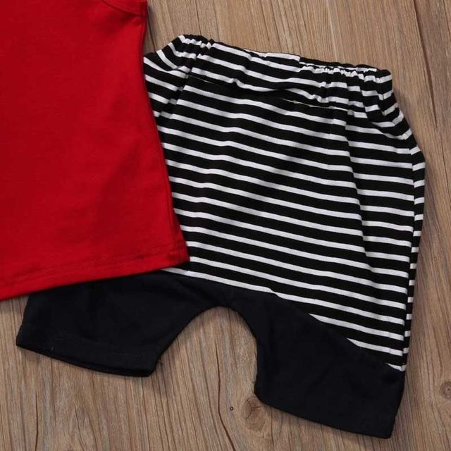 2PCS Cute Toddler Infant Newborn Baby Boy Clothes Hooded Tops Vest Striped Pants Shorts Outfits Casual Clothes Set 0-4T